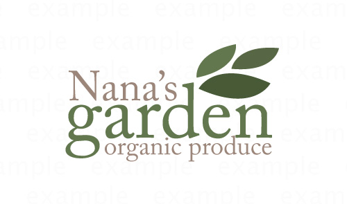 nana's garden logo sample by Sue Hutchings