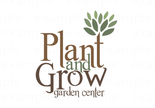 plant and grow logo sample by Sue Hutchings